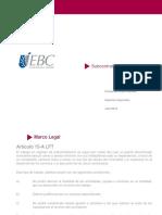Derecho Corporativo - Subcontratación