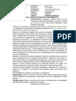 Modelo de escrito de observación de liquidación (alimentos)