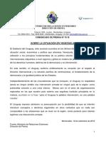 Comunicado Cancillería Sobre Venezuela