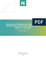Manual Operador en Centrales de Emergencias Médicas y Traslado