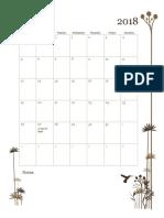 wibbelsman monthly calendar - fall 2018