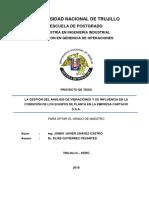 0.- Proyecto de Investigación - Gerencia de Operaciones - Javier Chávez(Vibraciones)