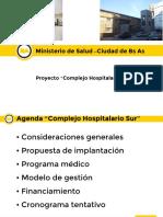 """Proyecto """"Complejo Hospitalario Sur"""""""
