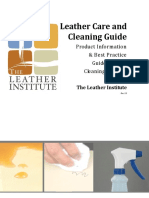 The Leather Institutes CARE and CLEANING Guide