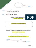Estructura de Proyecto de Investigación