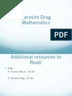 20 Parasite Drag Mathematics