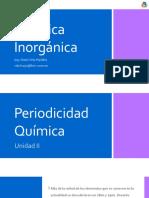 Unidad II - Periodicidad Química