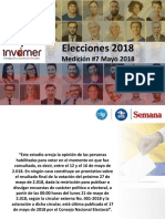 Duque (41,5%) y Petro (29,5%) lideran última encuesta a una semana de elecciones
