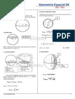 22. SB-22 - Resumo de Geometria Espacial - Esferas
