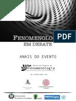 ANAIS Fenomenologia Em Debate - UEL 2018