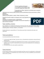 Textos Funcionales, Sinopsis y Reseña