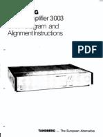 Tandberg TPA-3003 Service Manual