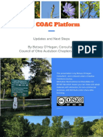 The Council of Ohio Audubon Chapters (COAC) Platform Sept 2018