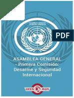 AsambleaGeneralPrimeraComisionDesarmeySeguridad Internacional