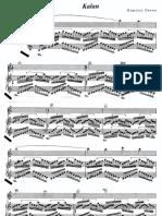 Dimitri Cervo - Kalan Para Vl. e Piano (Manuscrito, 1995)