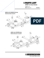 Hendrickson - Airtek Parts List for Volvo Vehicles (Sp174f)
