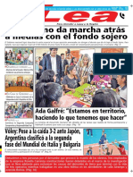 Periódico Lea Miércoles 19 de Septiembre Del 2018