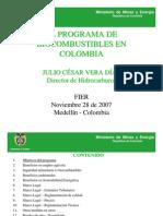 Programa de Bio Combustibles en Colombia