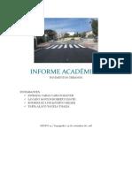 INFORME ACADÉMICO -  PAVIMENTOS