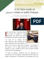 El emir de Qatar regala un palacio volante al sultán Erdogan