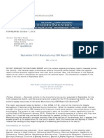 ISM - IsM Report - September 2010 Manufacturing ISM Report on Business