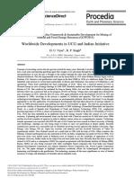 Worldwide Developments in UCG and Indian Initiative