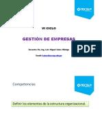 Clase 3 GDE 2015 I Estructura Organizacional