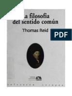 1-Reid Thomas 2003-La Filosofia Del Sentido Comun