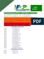 Lista de Productos Fgp