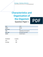 2.1 Organisation of the Organisms Igcse Cie Biology Ext Theory Qp