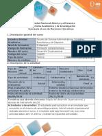 Guía para el uso de recursos educativos - Simulador plan estratégico