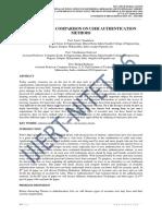 A SURVEY AND COMPARISON ON USER AUTHENTICATION METHODS