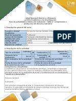 Guía de Actividades y Rúbrica de Evaluación - Taller 2 - Comprensión y Producción Del Discurso Narrativo