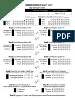 Debate Score Sheet - Single-Sided
