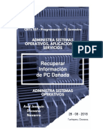 Práctica 4. Rescate de Información en PC Dañada - Axel