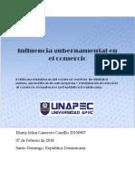 Influencia Gubernamental en El Comercio