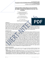 MODIFIED COUPLED-INDUCTOR SINGLE-STAGE BOOST INVERTER BASED GRID-CONNECTED PHOTOVOLTAIC (PV) SYSTEM