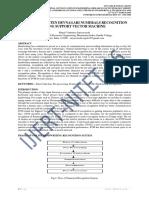 THE HANDWRITTEN DEVNAGARI NUMERALS RECOGNITION USING SUPPORT VECTOR MACHINE