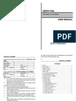 ZERO100L Ultrasonic Level Meter Manual. Two Lines.0-3m Dalian Zero Instrument Technology Co., Ltd China
