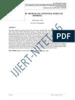 HETEROTROPHIC MICROALGAE A POTENTIAL SOURCE OF BIODIESEL