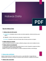 Habeas Data Analisis del caso