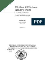 Laporan Praktikum Biologi-Aktivitas Enzim