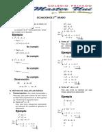 Ecuación de 2do Grado