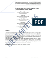 DESIGN AND DEVELOPMENT OF KINEMATIC LINKAGE BASED VARIABLE DISPLACEMENT PUMP