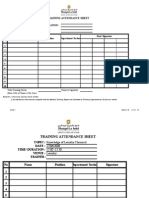 Training Plan Forms April 2008
