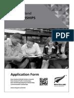 New Zealand Scholarships Application Form 2014
