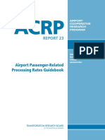 ACRP Report 23 - Airport Passenger Related Processing Rates Guidebook