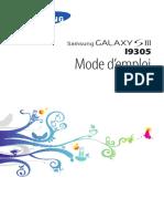 Samsung I9305 Galaxy S III LTE Mode d'Emploi