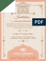 Jewelery Invite