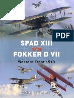 122739081 Spad XIII vs Fokker D VII Western Front 1918 Osprey Duel 17